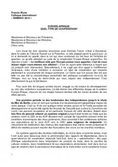 Colloque Bamako 2010 : Intervention de Francis Wurtz