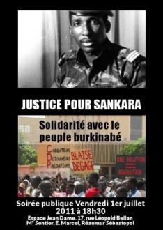 1er juillet 2011 : Grande soirée publique « Justice pour Thomas Sankara »